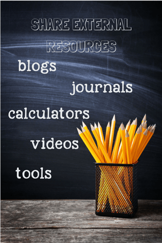 Share external resources in your online course content